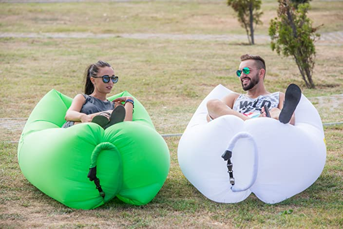 ChillaX Inflatable Lounger with Carry Bag