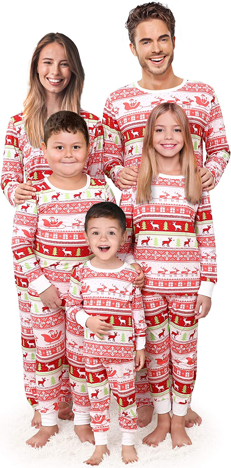 Matching Family Pajamas Set Matching Christmas Pjs For Couples Men Women Kids Holiday Sleepwear At Amazon Women S Clothing Store
