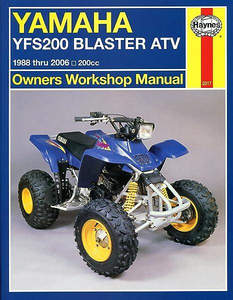 amazon com 88 06 yamaha blaster haynes repair manual misc rh amazon com Yamaha Blaster ATV Custom Yamaha Blaster