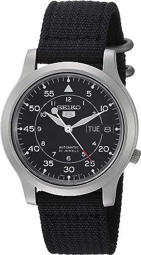 Amazon.com: SEIKO Men's SNK809 SEIKO 5 Automatic Stainless Steel Watch with Black  Canvas Strap: Seiko: Watches
