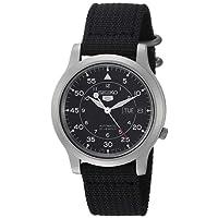 Seiko, Reloj para Hombre SNK809, Acero Inoxidable, Correa Negra