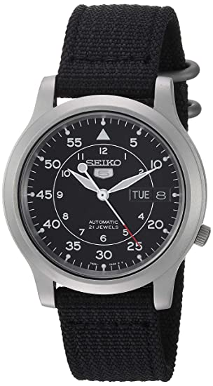 056a029ff Seiko 5 Men's SNK809 Automatic Black Strap Black Dial Watch: Seiko:  Amazon.ca: Watches