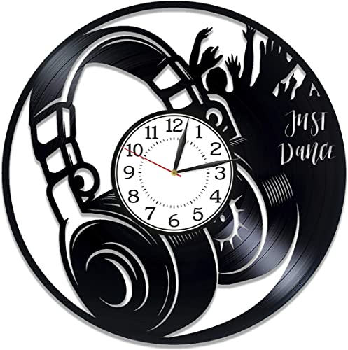 Kovides Music Birthday Gift Idea Headphone Vinyl Clock 12 Inch