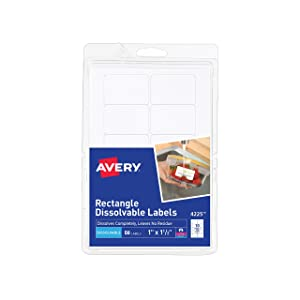 "Avery Dissolvable Rectangle Labels, 1"" x 1-1/2"", Pack of 50 (4225)"