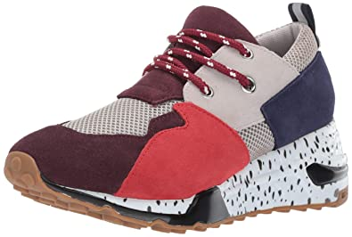 8f9d582dc00 Steve Madden Women's Cliff Sneaker Burgundy Multi 5.5 M US