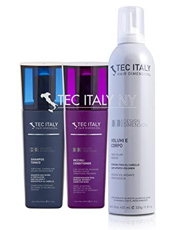 Tec Italy Volume Pack: Shampoo Tonico 10.1 Oz. + Riccioli Conditioner 10.1 Oz.