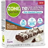 ZonePerfect Revitalize Energy Bars, with Caffeine For Mental Focus, Hot Chocolate Marshmallow, 1.41 oz, 30 count