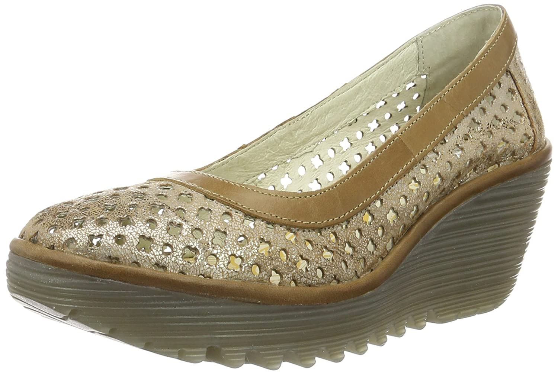 Fly London Womens Yika733Fly Leather Shoes B01LZSVR2C 40 EU (9-9.5 B(M) US Women)|Silver (Luna/Camel 007)