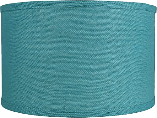 Urbanest Classic Drum Burlap Lampshade, 16-inch by 16-inch by 10-inch, Spa