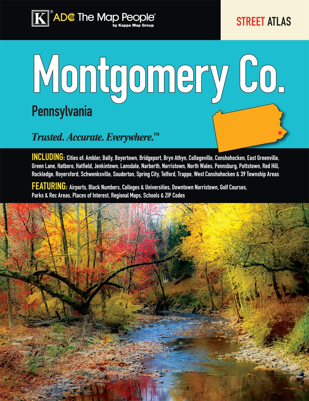 Norristown Pa Zip Code Map.Montgomery County Pa Street Atlas Kappa Map Group 9780762580415