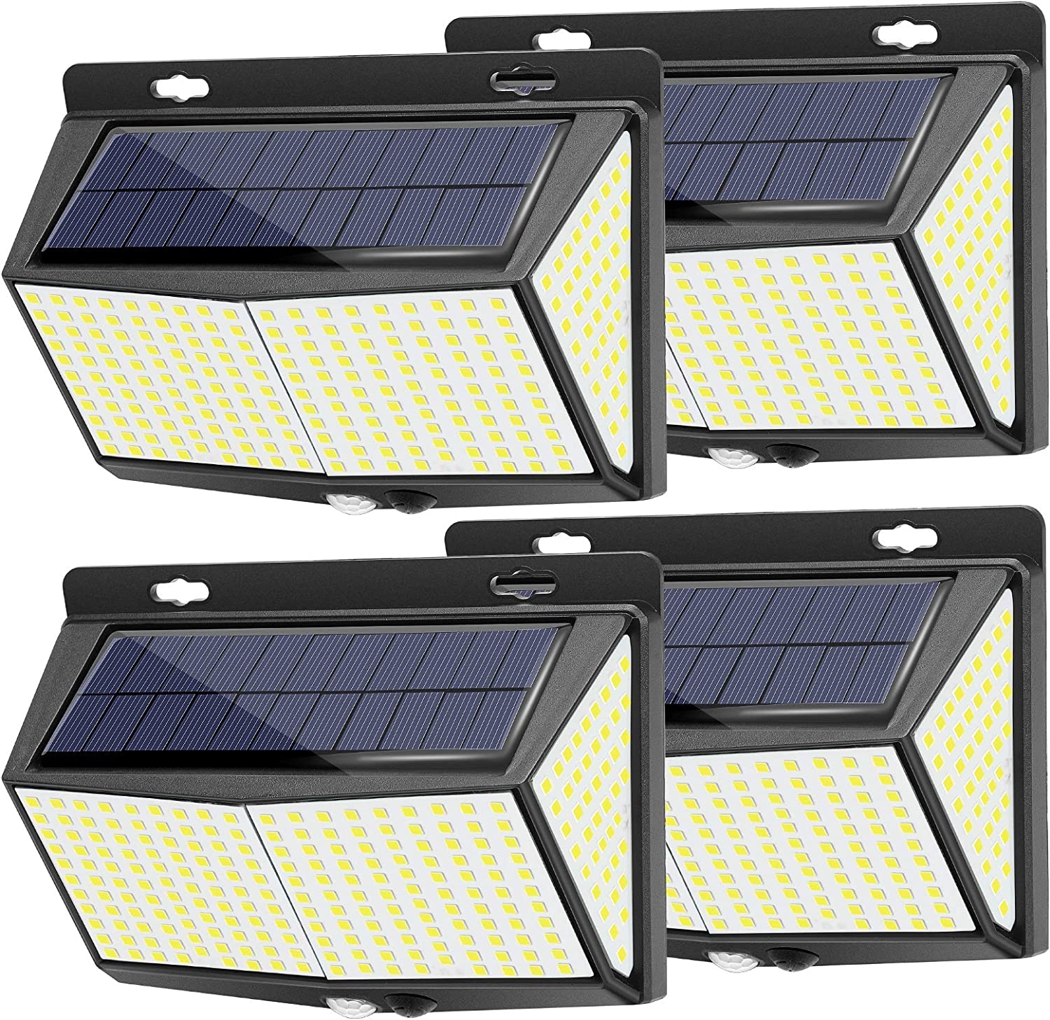 Amazon Com 288 Led Solar Lights Outdoor 4 Packs Exterior Solar Powered Lights Security Motion Sensor Lights With 3 Lighting Modes 270 Wide Angle Ip65 Waterproof Wireless For Outside Wall Fence Yard Garage Home Improvement