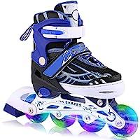 WeSkate Patines en Línea para Niños con Ruedas Luminosas Inline Skates/Rollerblade de Malla Transpirable para Niñas y…