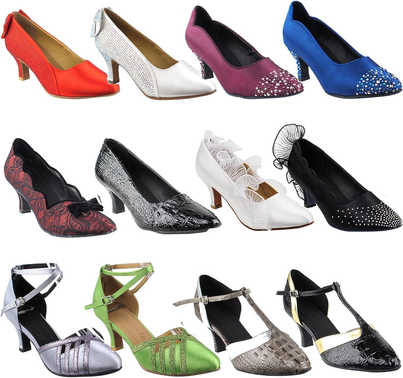 Ballroom Salsa Wedding Clubing Swing 50 Shades Green /& Yellow Ballroom Latin Dance Shoes for Women