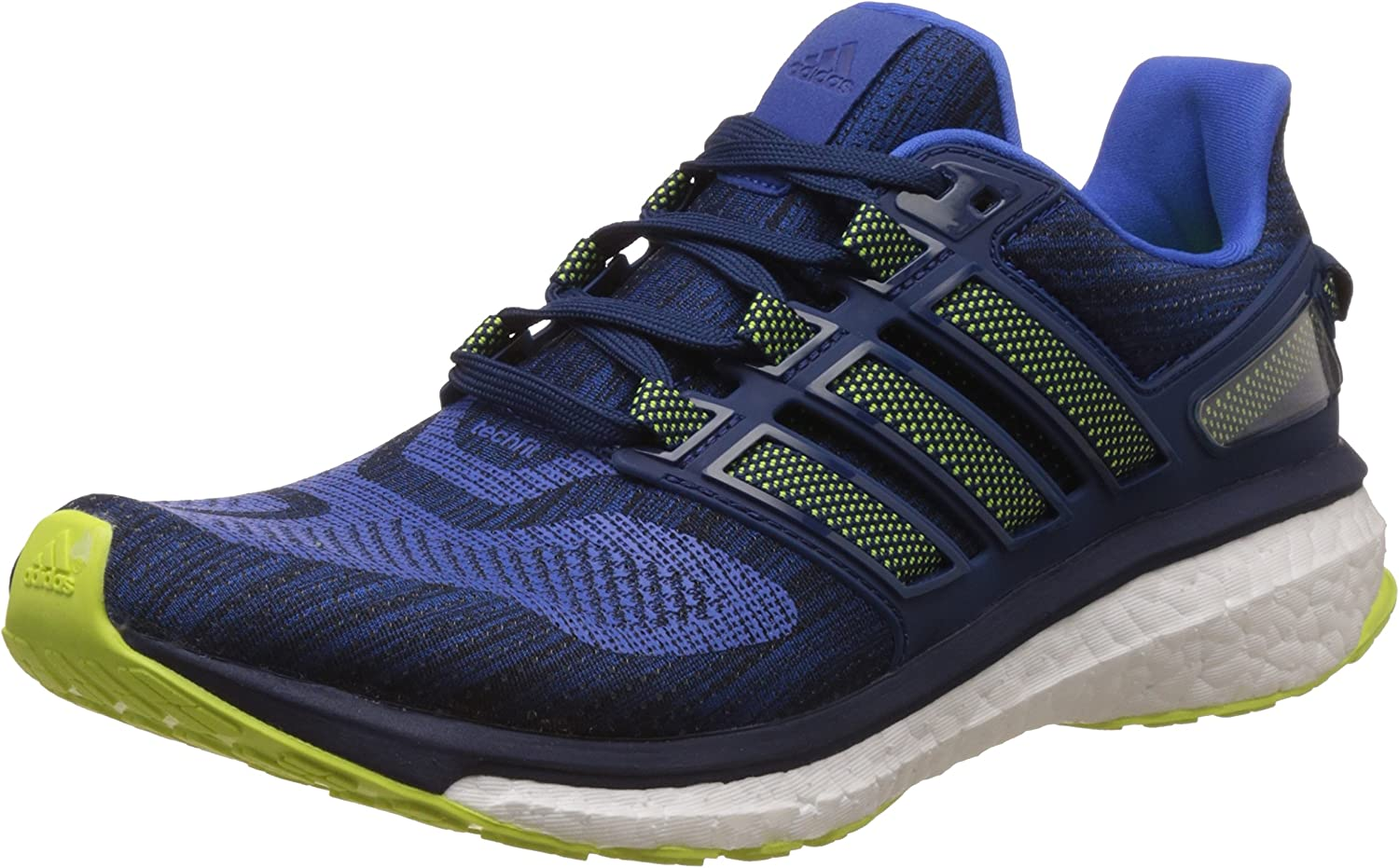 adidas Energy Boost 3, Zapatillas de Running Hombre, Azul (Blue/Solar Yellow/Mystery Blue), 48