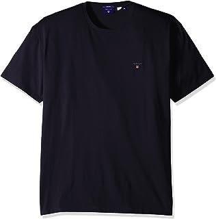 3485fa3573 Gant Men's Nhct T-Shirt Evening Blue, Small (Size: S): Amazon.co.uk ...