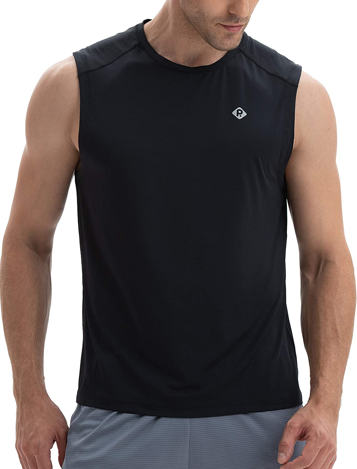 RlaGed Men's Performance Quick Dry Sleeveless Shirt for Athletic Muscle Bodybuilding Workout Sports Tank Tops