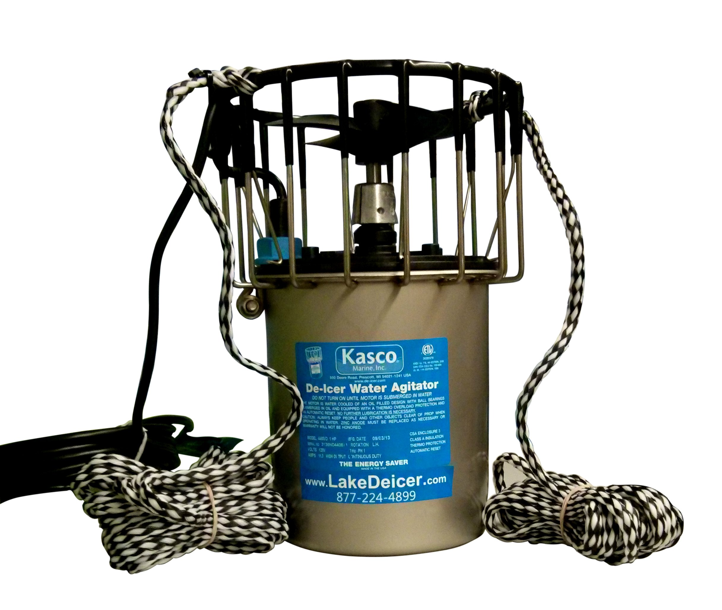 Deicer for Marinas, Lakes, and Ponds 3/4HP - 240v DEICER with 50ft cord - Kasco De Icer by Kasco