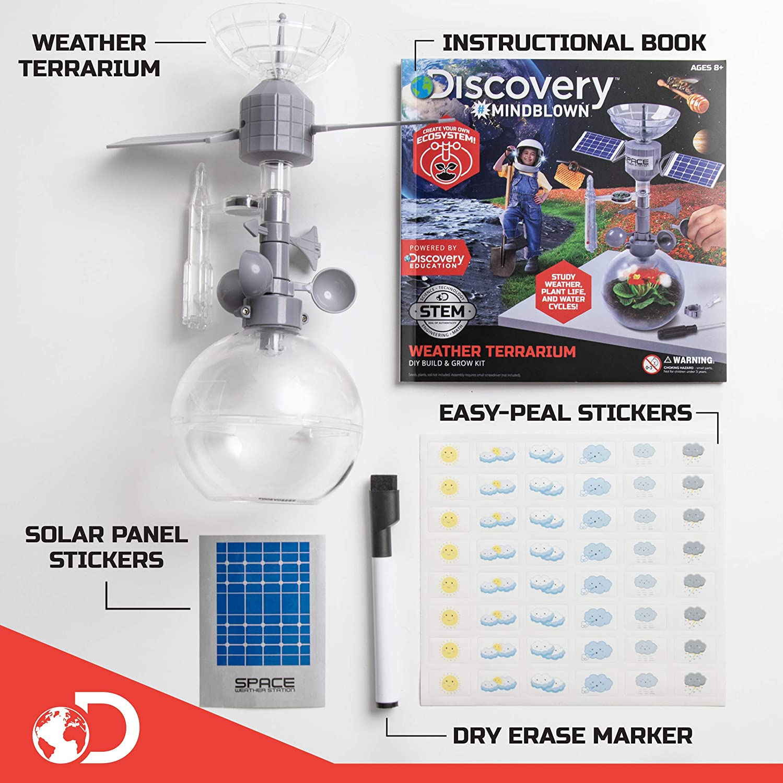 Discovery Kids Mindblown Weather Terrario DIY Construir y Crecer Kit: Amazon.es: Juguetes y juegos