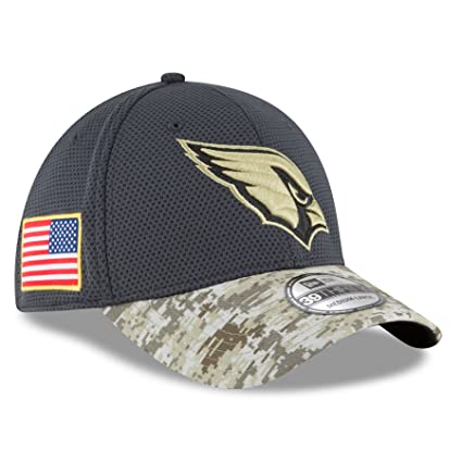 Amazon.com   Arizona Cardinals New Era 39THIRTY 2016 Sideline ... 93f3ba06d6e