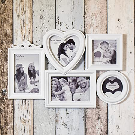 Large 5 Aperture Multi Photo Picture Frame - Wall Mounted: Amazon.co ...