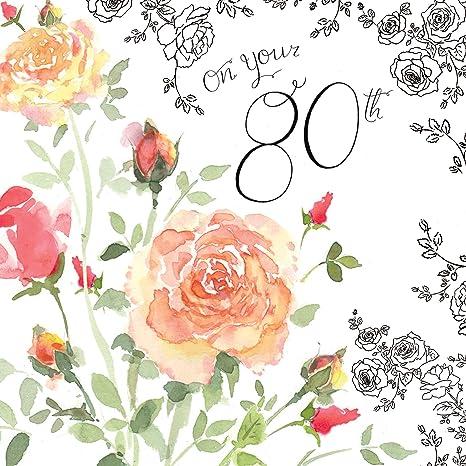 Twizler Biglietto Di Auguri Per 80 Compleanno Per Donna Con