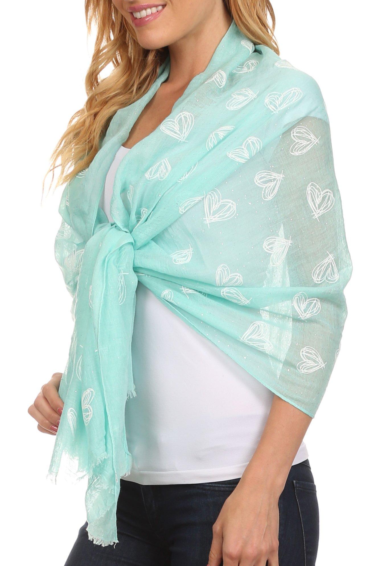 Sakkas CBS-5 - Hillary summer breeze lightweight flowing sheer gauze wrap scarf - 5-Mint - OS