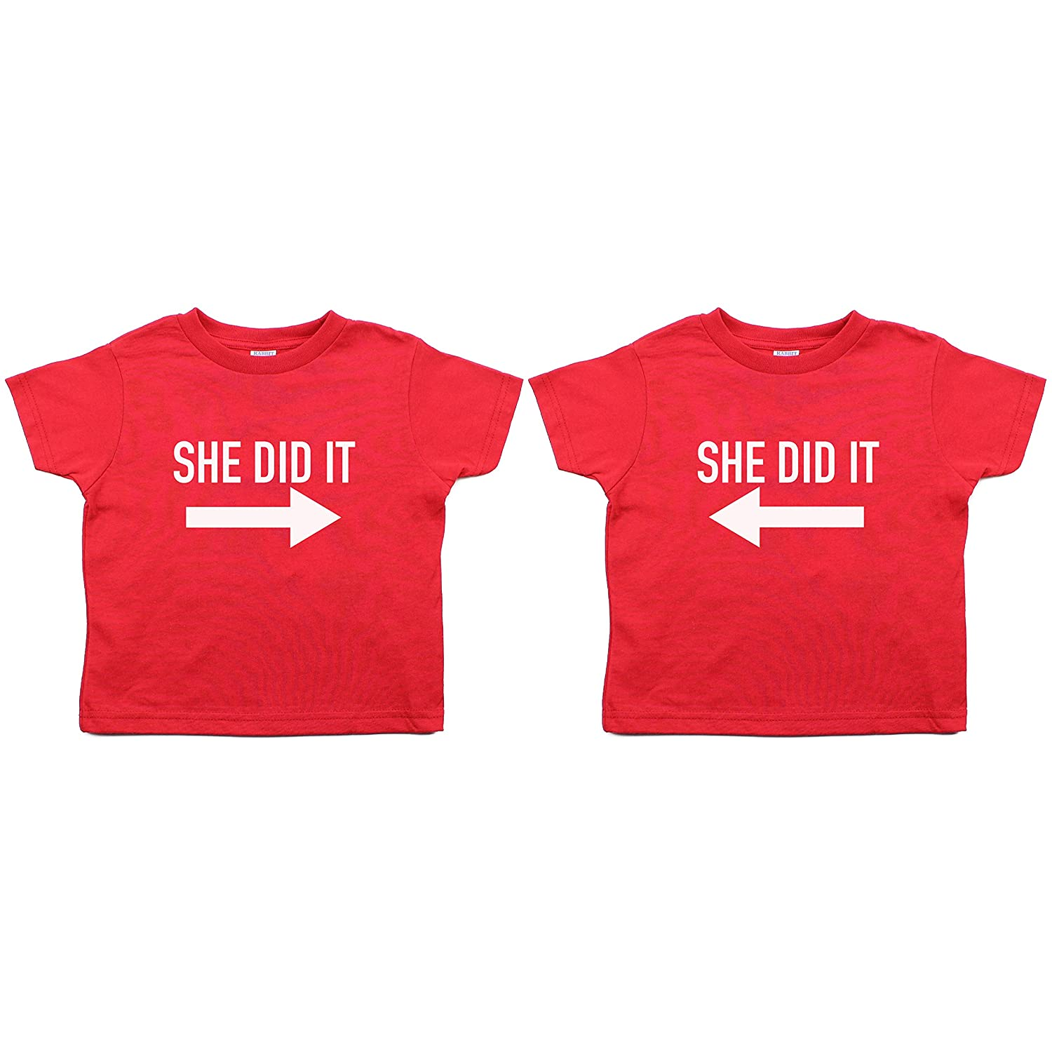 Twin Set She Did It Toddler Short Sleeve T-Shirt