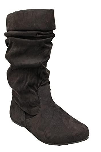 Titan Mall Forever jolyn-9 Womens Comfort Slouch Cozy Slip On Mid Calf Boots