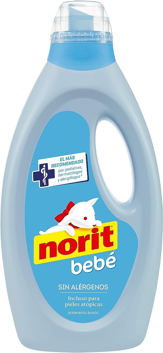 Norit Ropa de Bebé y Pieles Atópicas Detergente Líquido - 1125 ml ...