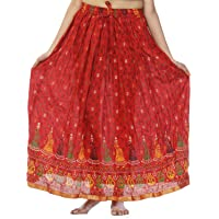 Creativegifts Womens Cotton Gypsy Boho Hippie Long Skirt