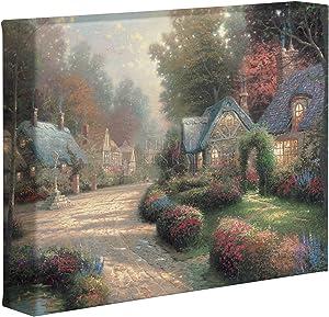 Thomas Kinkade Cobblestone Lane 8 x 10 Gallery Wrapped Canvas