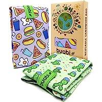 Bolsa portabocadillos Reutilizable. 2X Envoltorio Bocadillo, Sandwich, Almuerzo, merienda Infantil y Adultos. Ecológico…