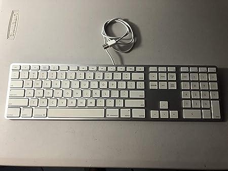 Command Mac Parts (MB110LL/A Teclado Apple con Cable + Teclado numérico y Puertos USB (A1243)
