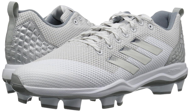 the best attitude d878c 21735 Amazon.com   adidas Men s Freak X Carbon Mid Baseball Shoe, FTWR White, Silver  met, Light Grey, 10 M US   Baseball   Softball