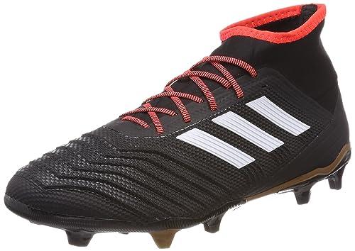 adidas Predator 18.2 Fg, Scarpe da Calcio Uomo, Nero Cblack/Ftwwht/Solred