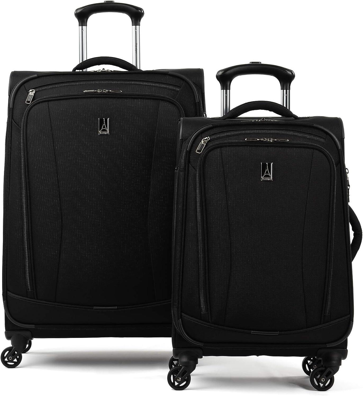 Travelpro TourGo Softside Lightweight 2-Piece Luggage Set, Black