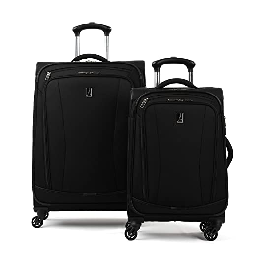"Travelpro Tour Go 20"" And 25"" Softside Spinner Luggage Set, Black by Travelpro"