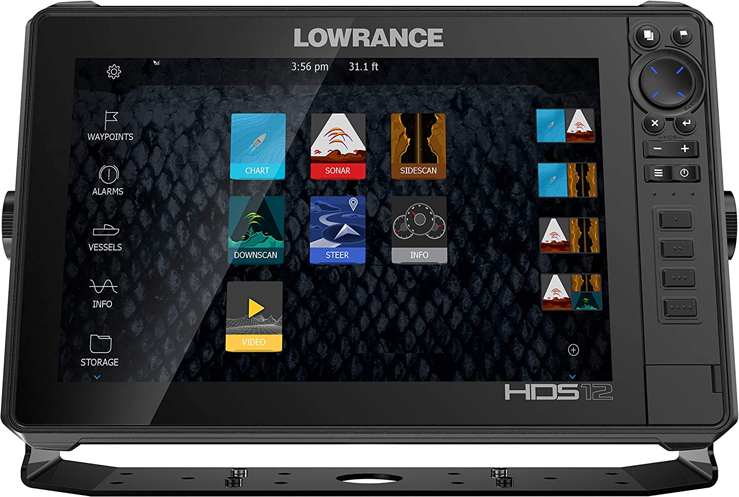 Lowrance HDS-12 Live with Active Imaging 3-in-1 Transom Mount Transducer C-MAP Pro Chart