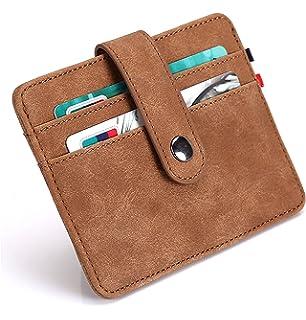 sciuU Cartera Tarjeta de Crédito, Bloqueo RFID, Ultra Delgado Cuero PU Multiuso Bolsillos…