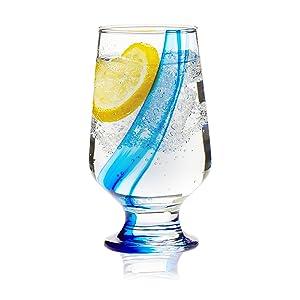 Libbey Blue Ribbon Goblet Beverage Glasses, 12.8-ounce, Set of 8