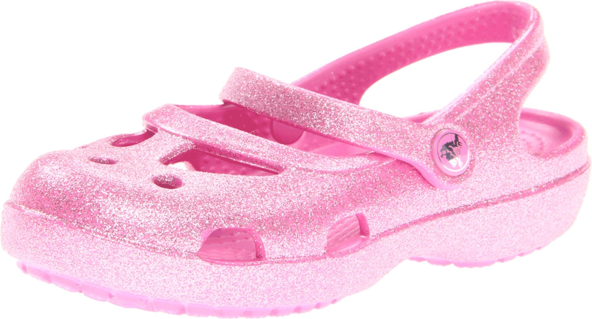 crocs 14478 Shayna Glitter Sandal (Toddler/Little Kid),Party Pink,6 M US Toddler