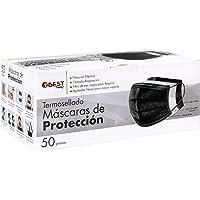 Best Trading Cubrebocas, Tapabocas Calidad Premium, Negro Termosellado con 3 Capas de Protección, Mascarilla Desechable…