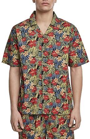 Urban Classics Pattern Resort Shirt Camicia Uomo: Amazon.it