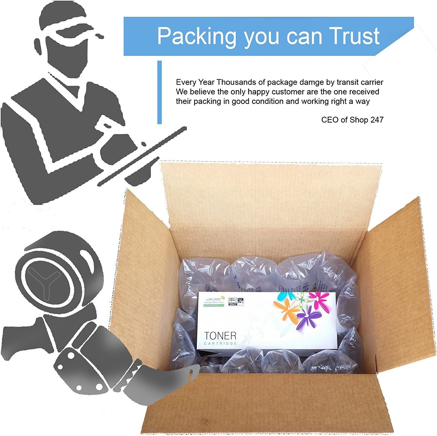 Compatible Toner Cartridge Replacement for HP 124A Q6000A Q6001A Q6002A Q6003A Color Laserjet 1600 2600n 2605dn 2605dtn CM1015 CM1017 MFP 1-Pack Yellow