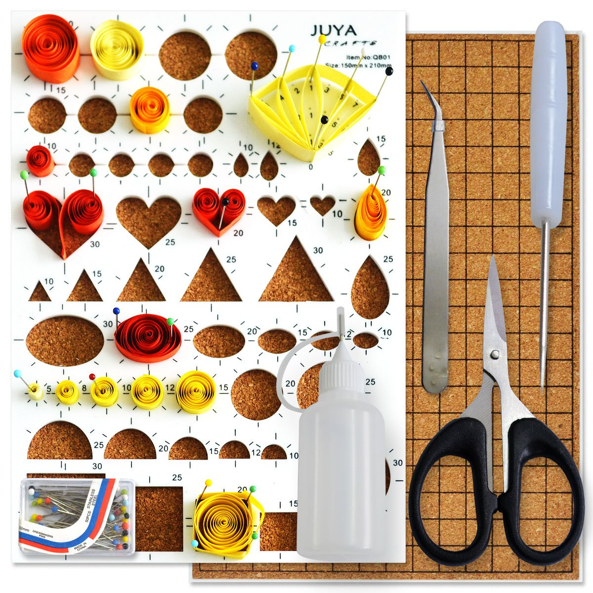 Paper Width 3mm JUYA Paper Qillling Kit with Blue Tools 960 Strips Board Mould Crimper Coach Comb
