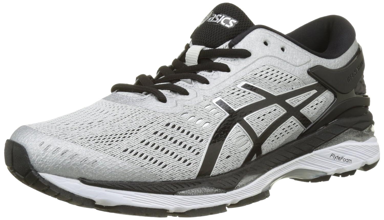 Asics Gel-Kayano 24, Zapatillas de Running Hombre, 43.5 EU|Gris (Silver / Black / Mid Grey)