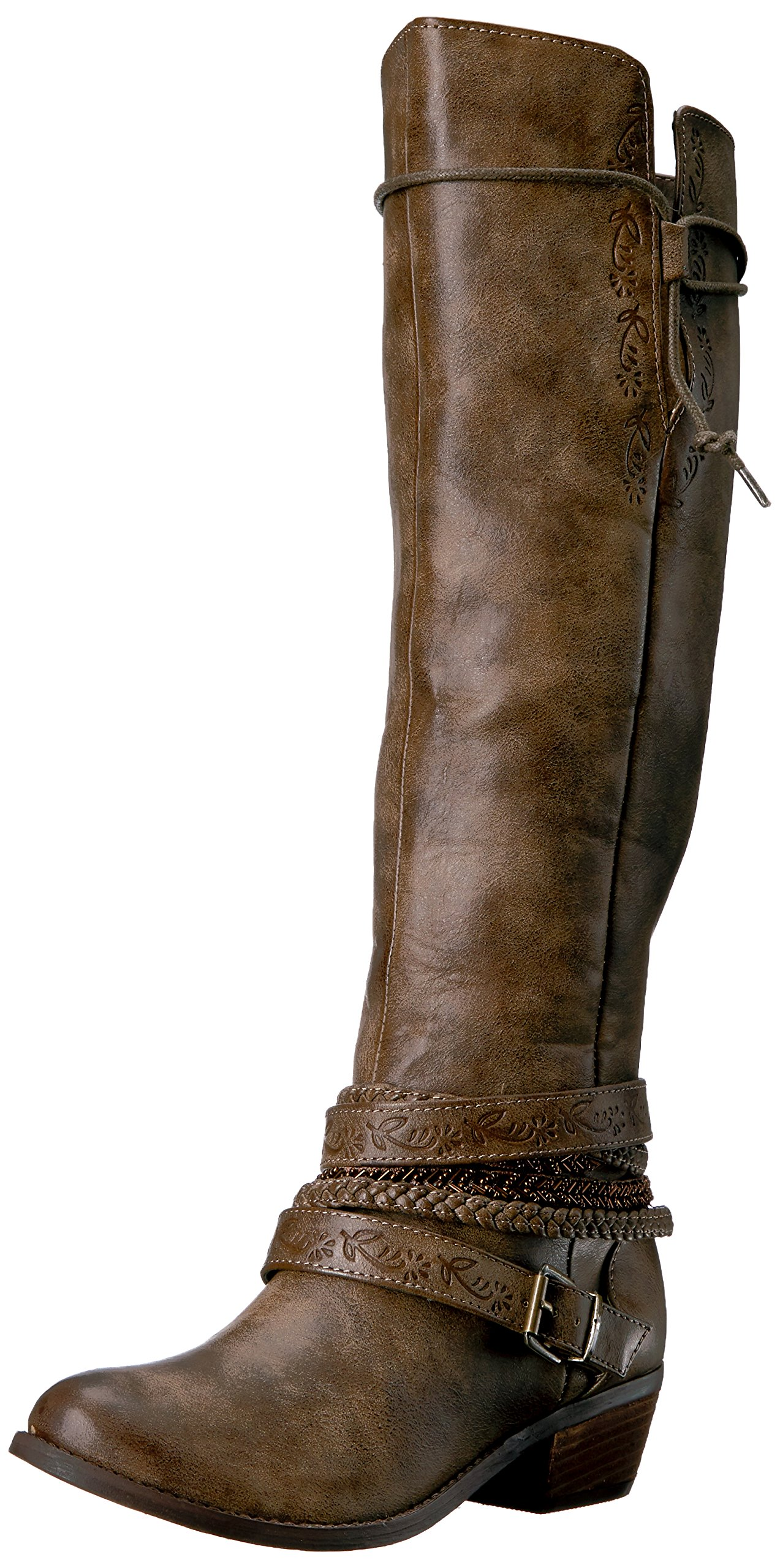 Not Rated Women's Jurupa Riding Boot,Taupe,7.5 M US