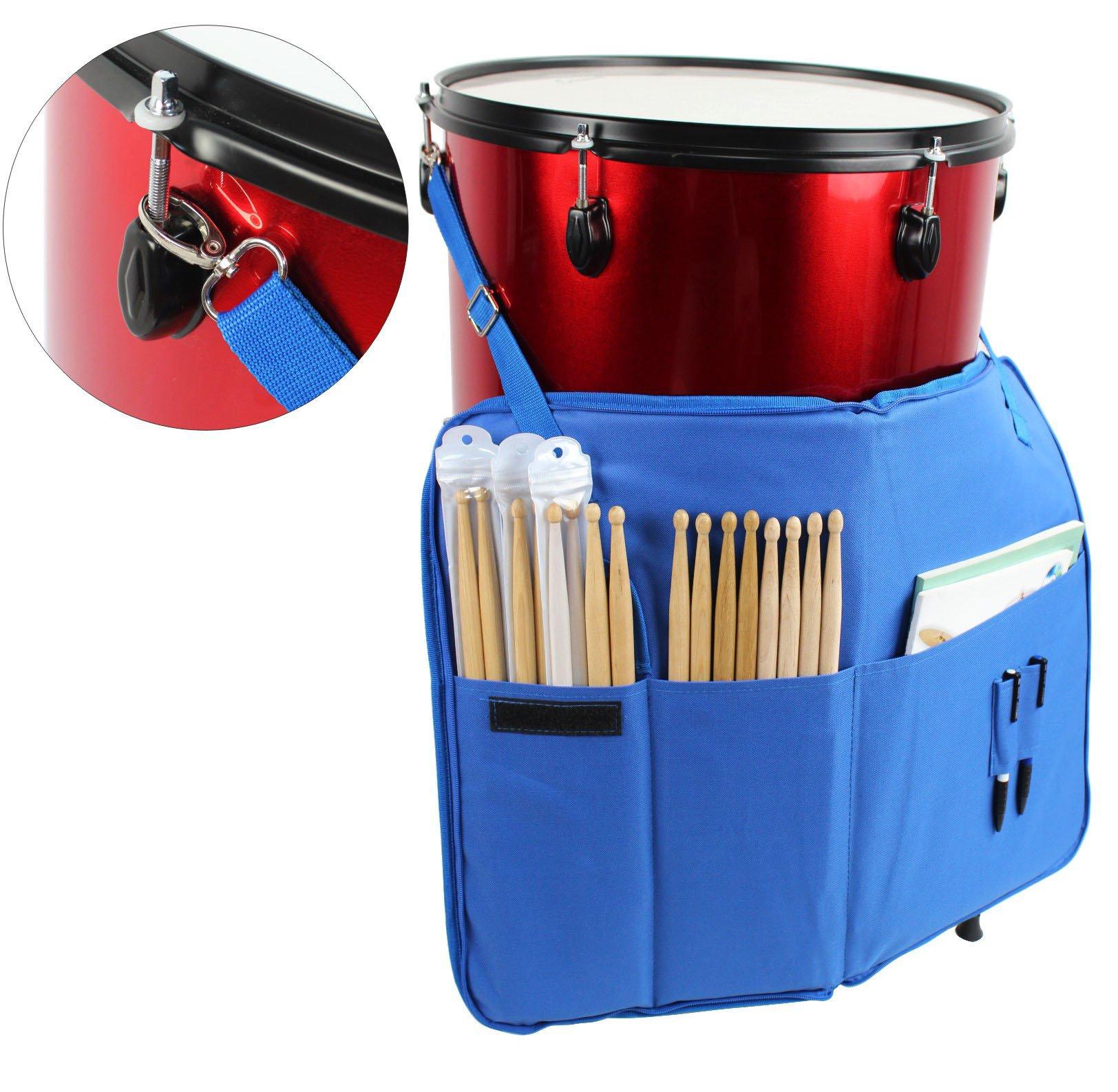 YMC DSB20-BU Pro Drum Stick Bag Holder 15mm Foam - Blue