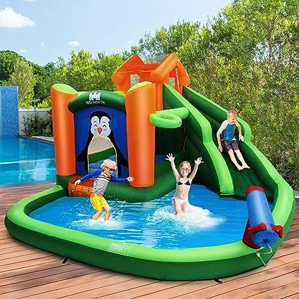 Amazon.com: Hogar Niños Inflable Jumper Tobogán de Agua ...