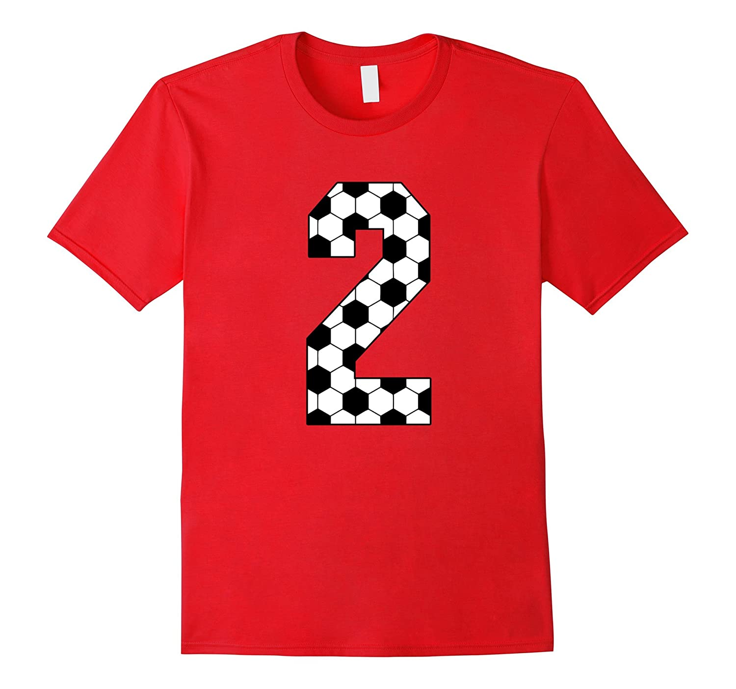 e7e34474 Number 2 Soccer 2nd Birthday two Year Old T-shirt-TD – Teedep